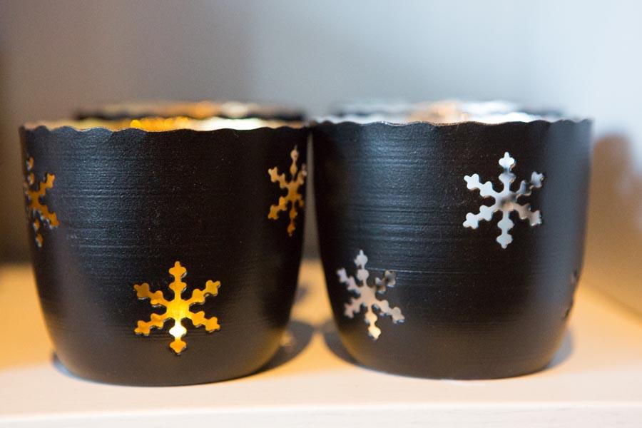 Snow flake candleholder