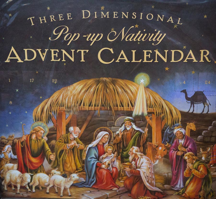 Pop-up advent calendar